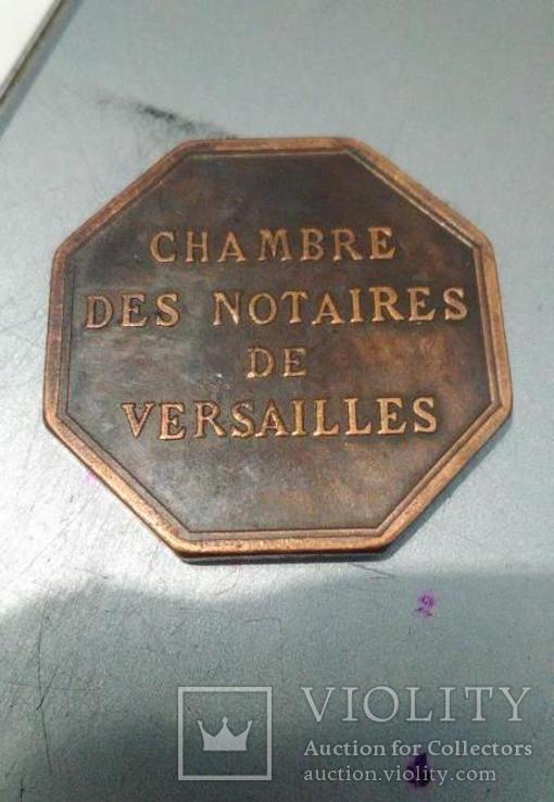 Токен Франции восьмигранный монетовидный жетон КОМНАТА НОТАРИУСОВ. Копия., фото №2