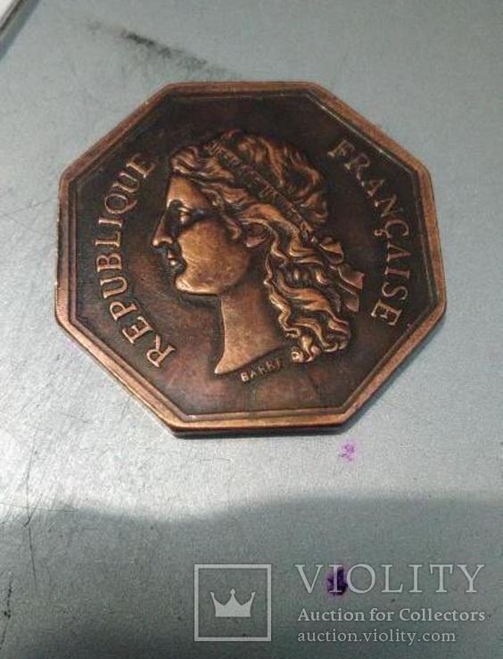 Токен Франции восьмигранный монетовидный жетон КОМНАТА НОТАРИУСОВ. Копия., фото №3