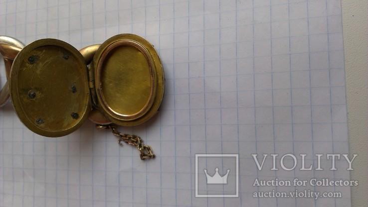 Браслет с массонской символикой, золото, серебро., фото №7