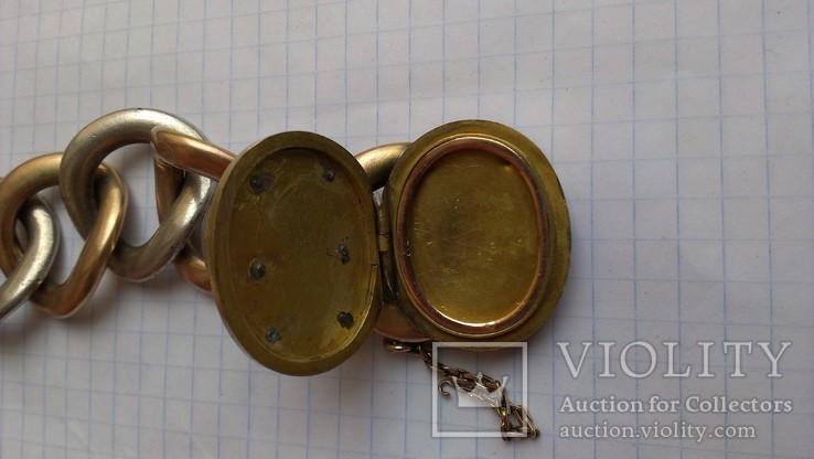 Браслет с массонской символикой, золото, серебро., фото №8