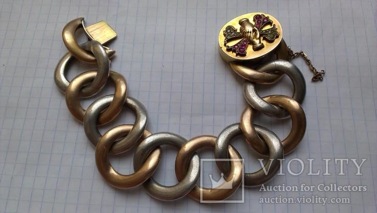 Браслет с массонской символикой, золото, серебро., фото №9