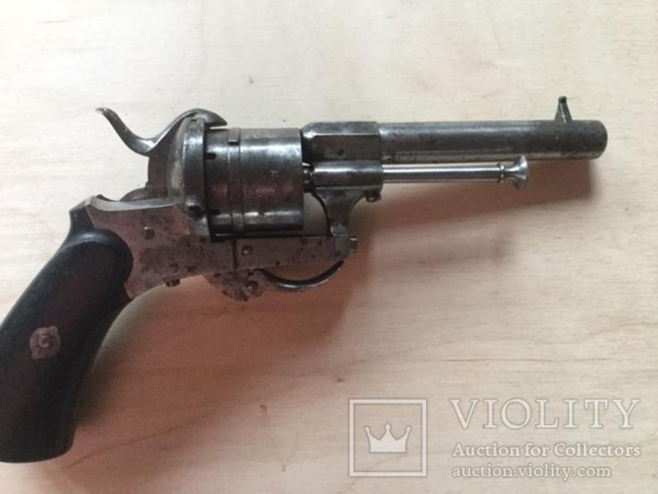 Брючной шпилечный 7 мм револьвер системы Лефоше, фото №5