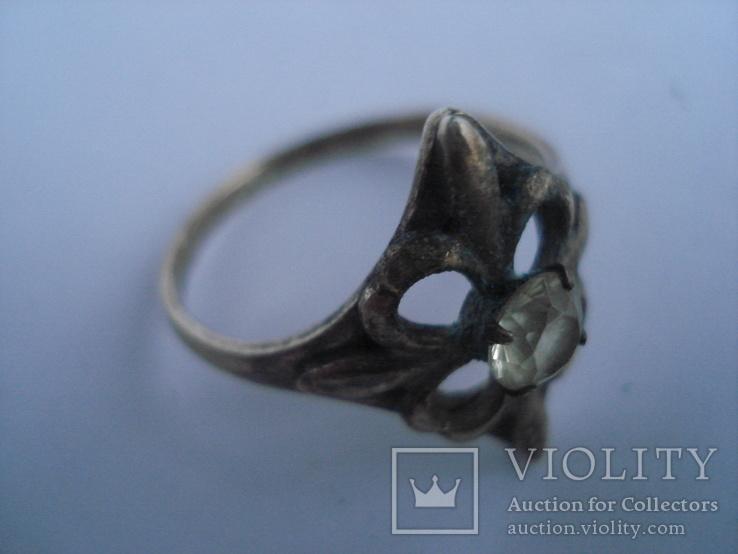 Три кольца из серебра СССР, позолота. 875пр., фото №11