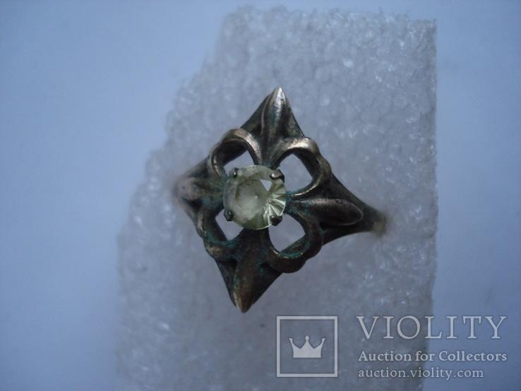 Три кольца из серебра СССР, позолота. 875пр., фото №13