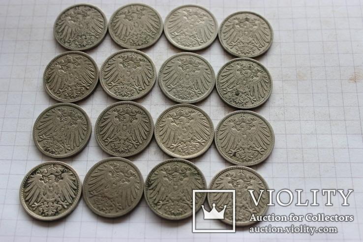 5 пфеннигов - 16 шт., фото №3
