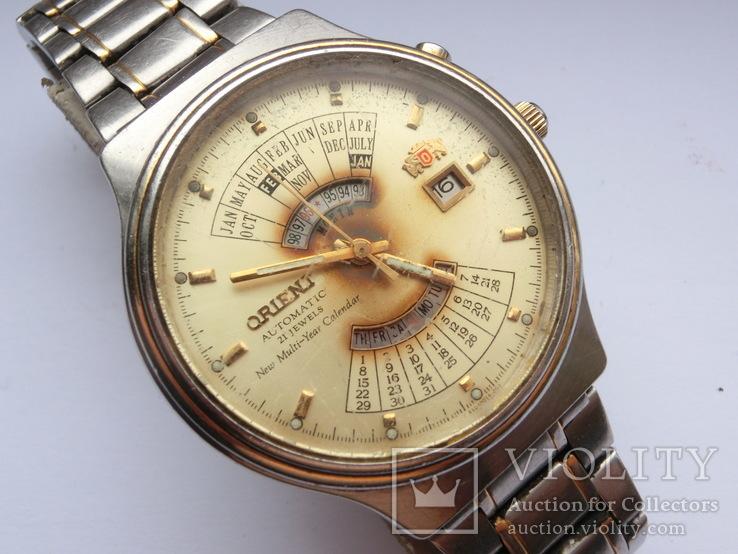 Orient Automatic 21 Jewels Multi-year Calendar, фото №4
