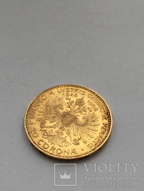 20 корона 1908р., Франц Йосиф I ,60 років правління
