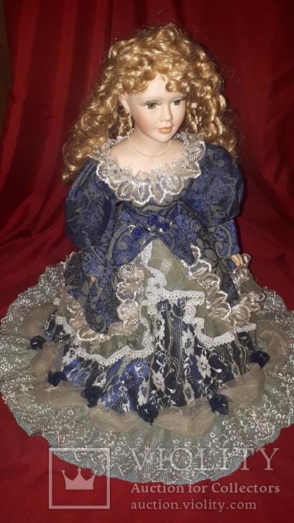 Кукла фарфор (на подставке), фото №2