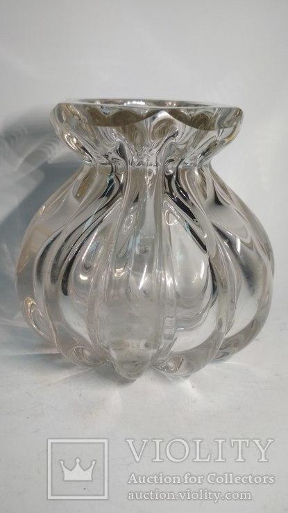 Старинная стеклянная ваза, фото №2