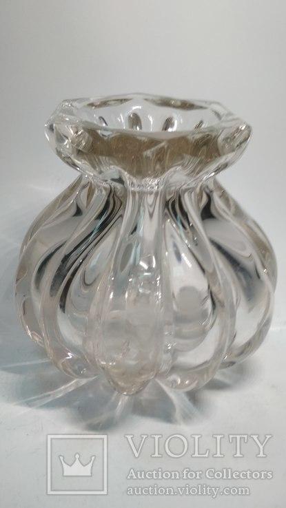 Старинная стеклянная ваза, фото №8