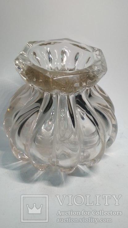 Старинная стеклянная ваза, фото №9