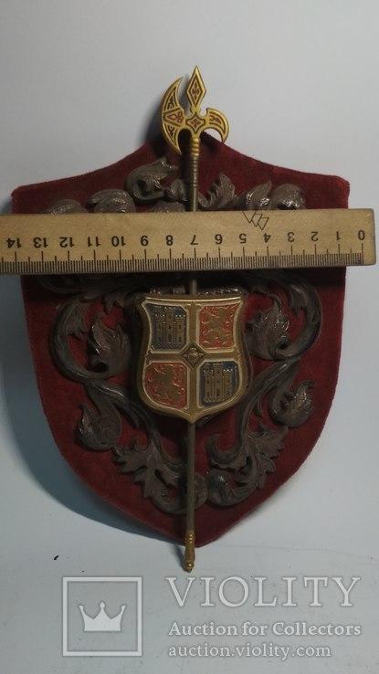 Винтажный декор, щит, геральдика, эмали, фото №3