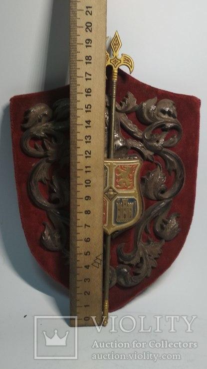 Винтажный декор, щит, геральдика, эмали, фото №4