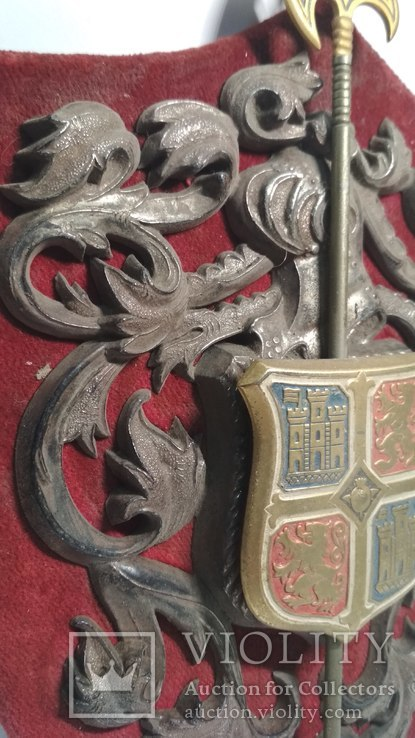 Винтажный декор, щит, геральдика, эмали, фото №6