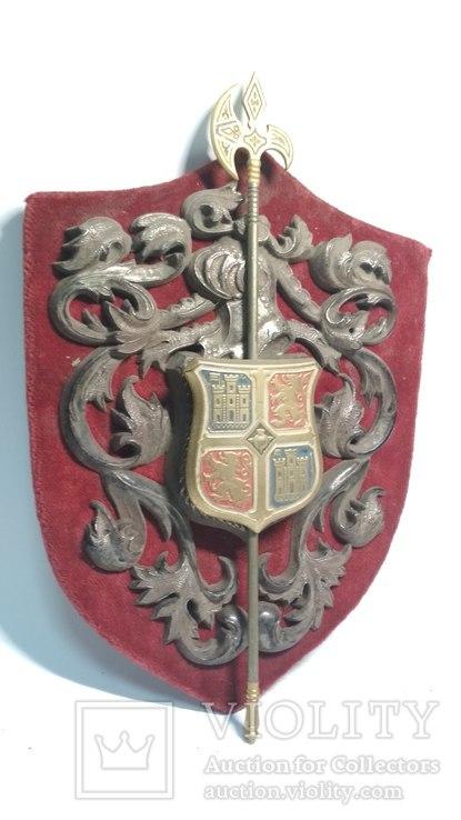 Винтажный декор, щит, геральдика, эмали, фото №2