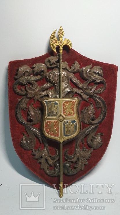 Винтажный декор, щит, геральдика, эмали, фото №9