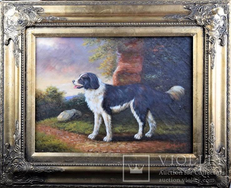 Картина Собака Подпись