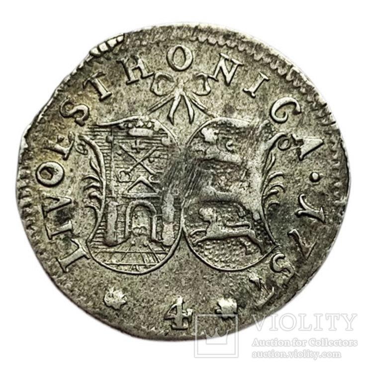 4 копейки 1757 года. Ливония., фото №2
