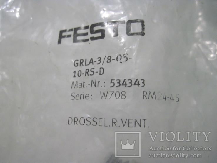 ДРОССЕЛЬ FESTO GRLA-3/8-QS-10-RS-D, фото №3