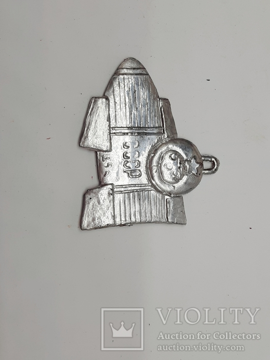 Елочная игрушка пластиковая Ракета СССР, винтаж., фото №2