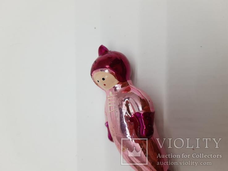 Елочная игрушка Космонавт на прищепке,  винтаж, СССР, фото №7