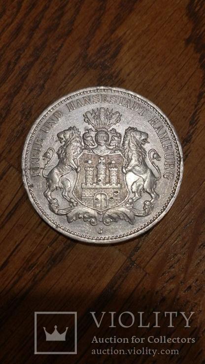 Німецька імперія 3 марки, 1910, фото №2