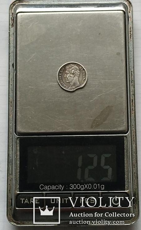 Монета 1/4 франка, 1828 года., фото №4