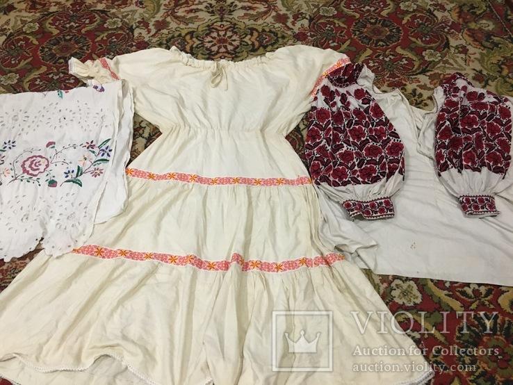 Вышиванка, платье и рушник 50 - 60 годов, фото №2