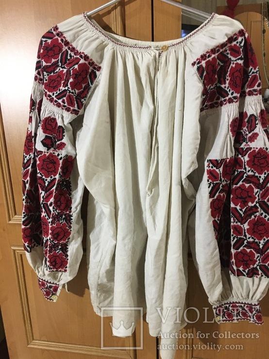 Вышиванка, платье и рушник 50 - 60 годов, фото №3