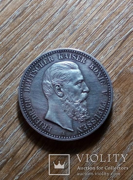 Пруссия 5 марок 1888 г., фото №2