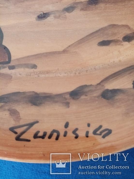 Настенная тарелка подпись, фото №3