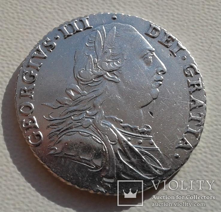 Великобритания 1 шиллинг 1787г. George III. UNC., фото №3