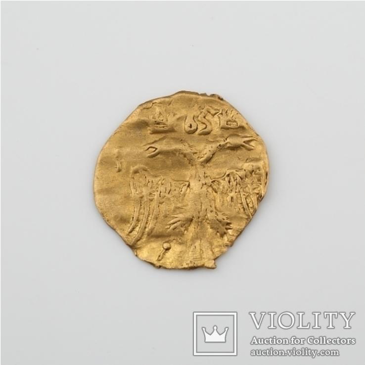 Золотая чешуйка - 1/4 угорского  Алексея Михайловича.В связи с не выкупом.