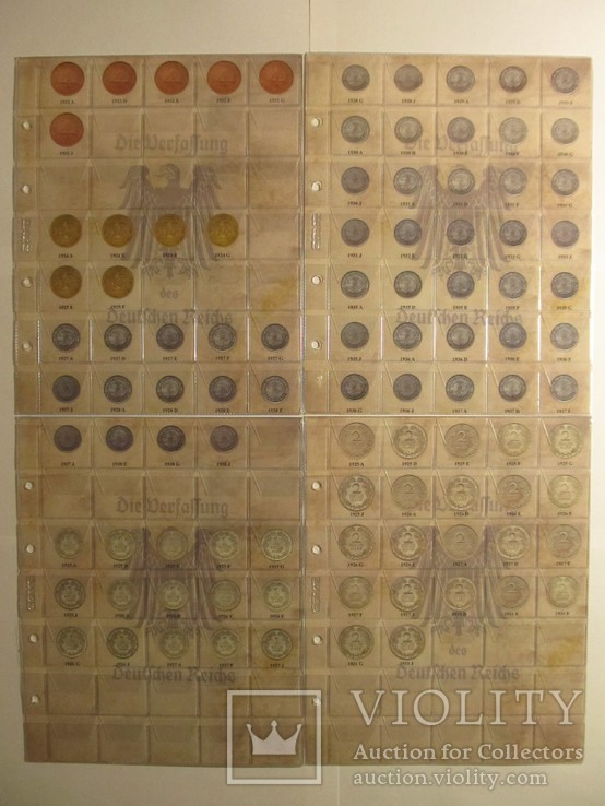 Альбом-каталог для разменных монет Веймарской Республики 1919-1938гг, фото №5