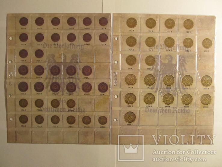 Альбом-каталог для разменных монет Веймарской Республики 1919-1938гг, фото №7