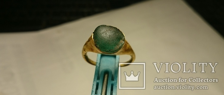 Золотой перстень Хазары конец 8 в.- начало 10 века, фото №2