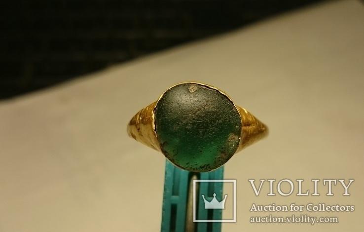 Золотой перстень Хазары конец 8 в.- начало 10 века, фото №3