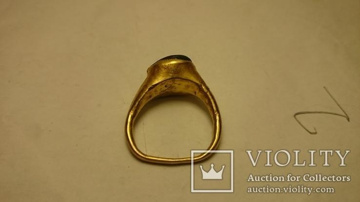 Золотой перстень Хазары конец 8 в.- начало 10 века, фото №4