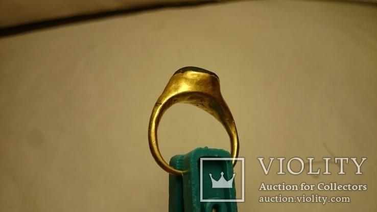 Золотой перстень Хазары конец 8 в.- начало 10 века, фото №6