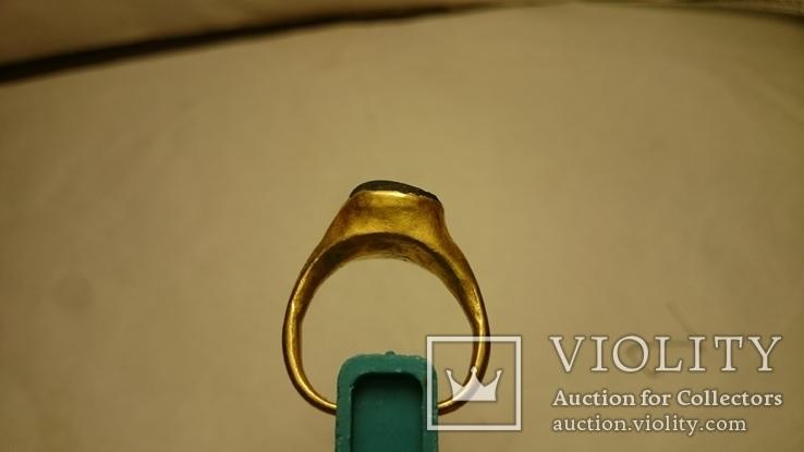 Золотой перстень Хазары конец 8 в.- начало 10 века, фото №7