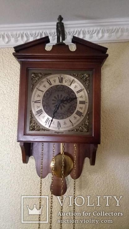 Часы настенные DUGENA c боем, восточная Германия