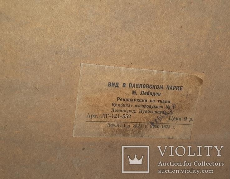 Вид в Павловском парке Репродукция на ткани, фото №3