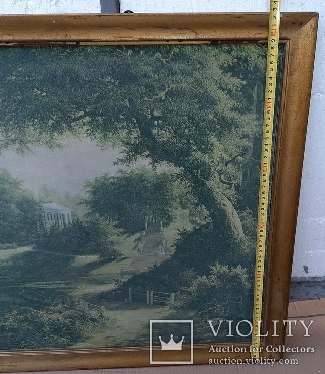 Вид в Павловском парке Репродукция на ткани, фото №11