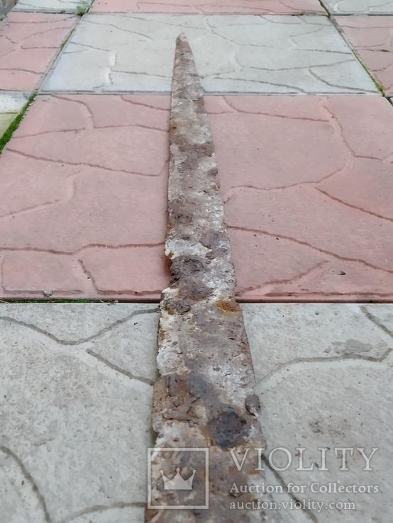 Сарматский меч с орнаментом 74,3см, фото №3