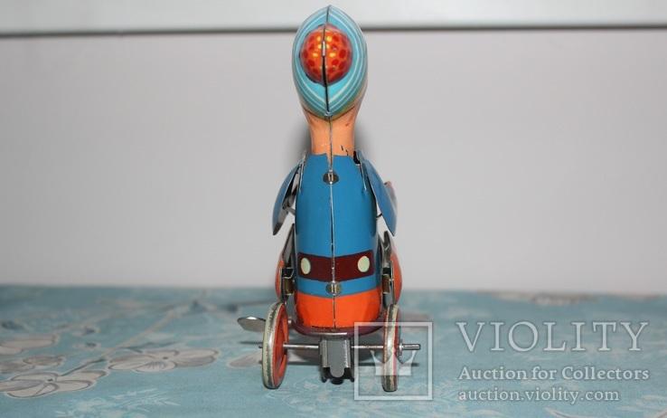 Заводная игрушка из жести - Мальчик на велосипеде, фото №5