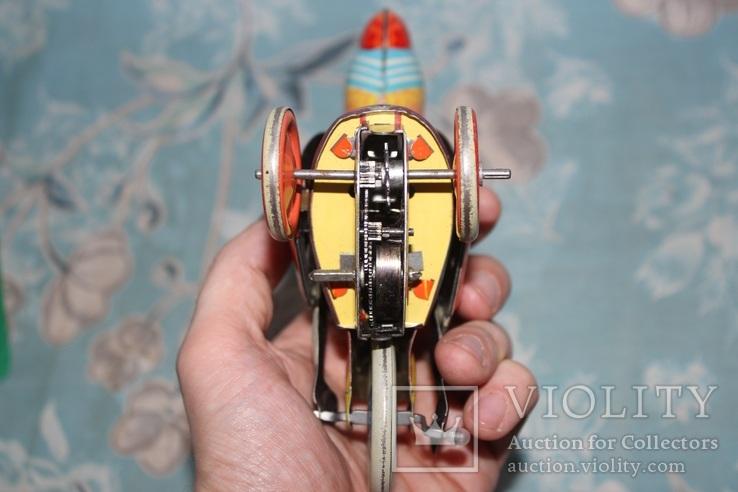 Заводная игрушка из жести - Мальчик на велосипеде, фото №9