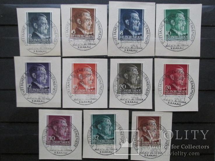 3-й Рейх, Генерал губернаторство Гитлер, спецгашение, фото №3