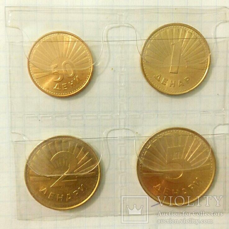 Четыре монеты Республики Северная Македония с представителями фауны., фото №2