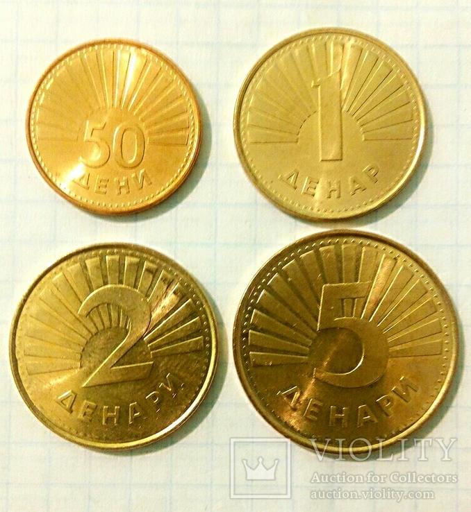 Четыре монеты Республики Северная Македония с представителями фауны., фото №3