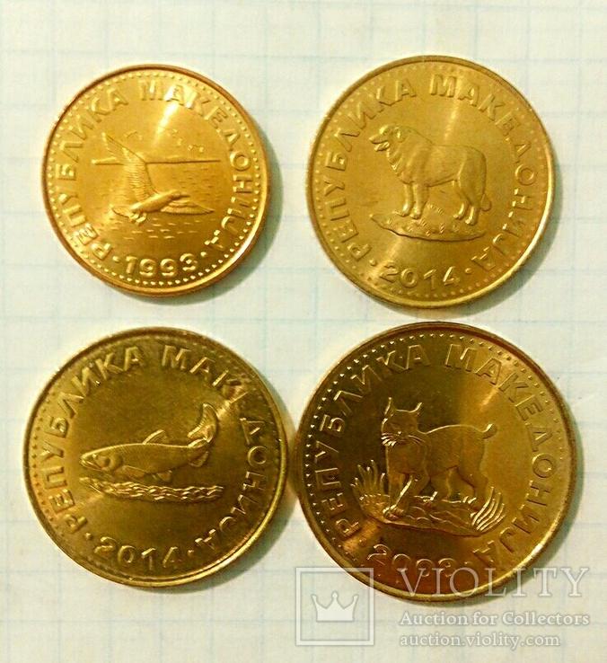 Четыре монеты Республики Северная Македония с представителями фауны., фото №4